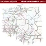 Sieć kolejowych połączeń pasażerskich - mapa do SRJP 2009/10