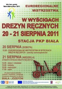 Wyścigi drezyn ręcznych - Biała 2011 (plakat)