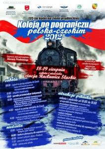 Piknik kolejowy w Racławicach Śląskich 2012 - plakat