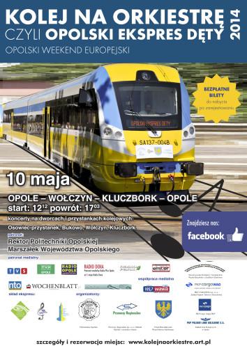 Kolej na orkiestrę 2014 - plakat
