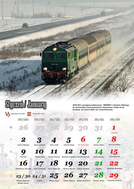 Kalendarz ścienny 2012 ze zdjęciami z Magistrali Podsudeckiej
